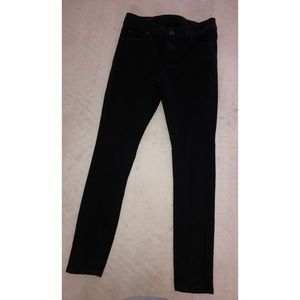 Black soft jean pants